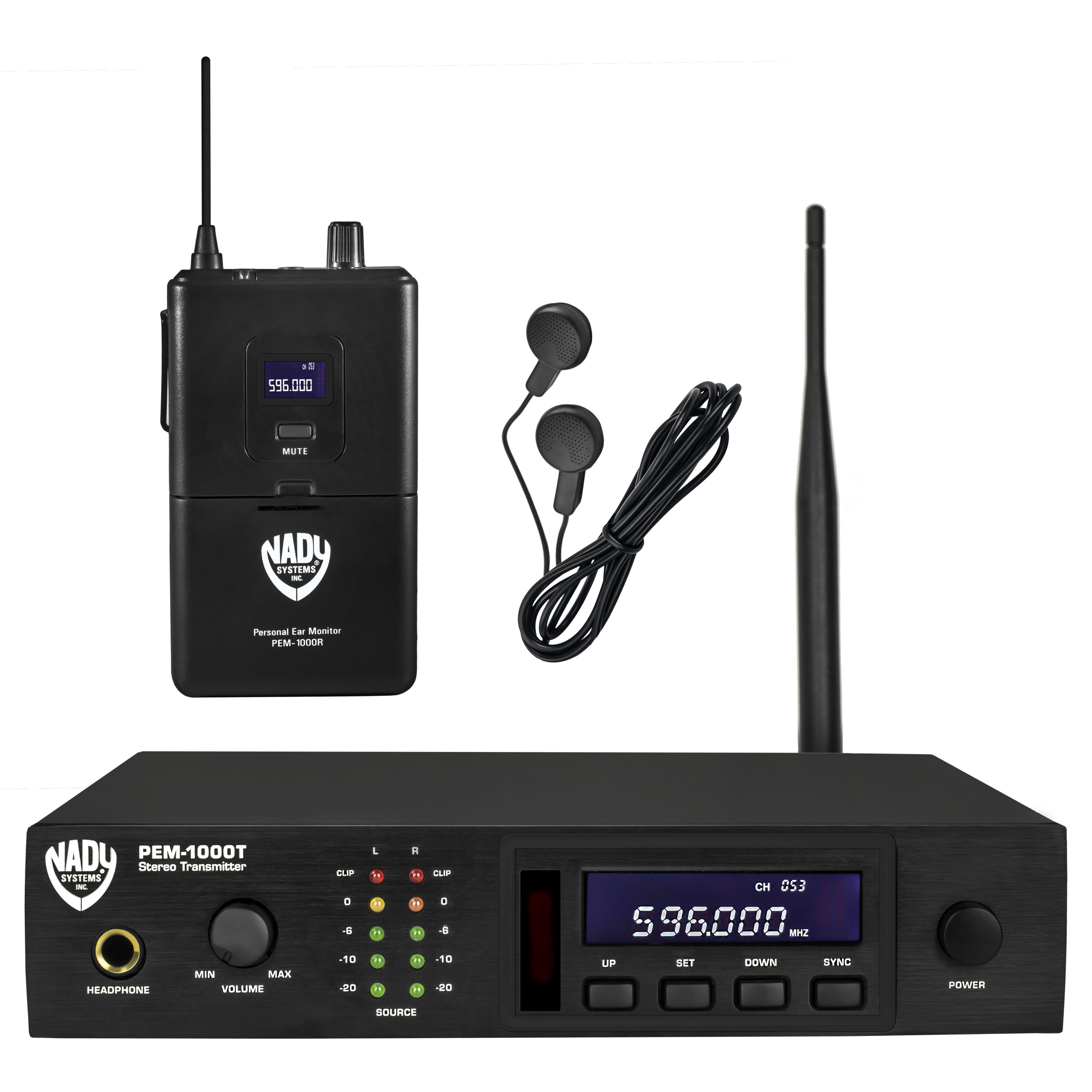 pem 1000 uhf wireless in ear monitor system nady systems inc. Black Bedroom Furniture Sets. Home Design Ideas