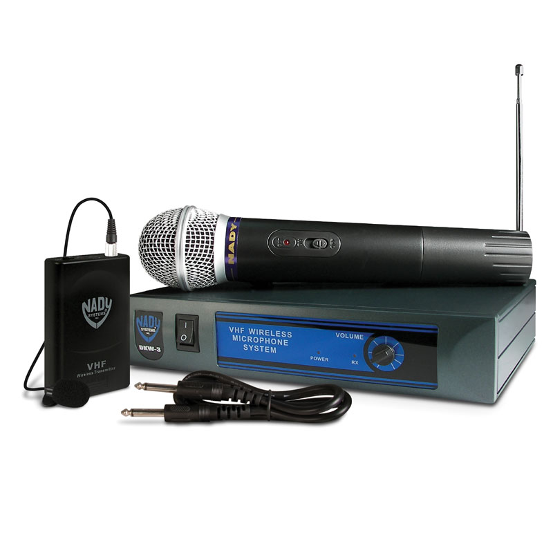 dkw 3 single vhf wireless microphone instrument system nady systems inc. Black Bedroom Furniture Sets. Home Design Ideas