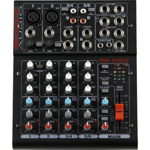 srm 10x 10 channel stereo mic line mixer nady systems inc. Black Bedroom Furniture Sets. Home Design Ideas