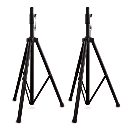 Spst 2a Pair Of Aluminum Tripod Speaker Stands Nady