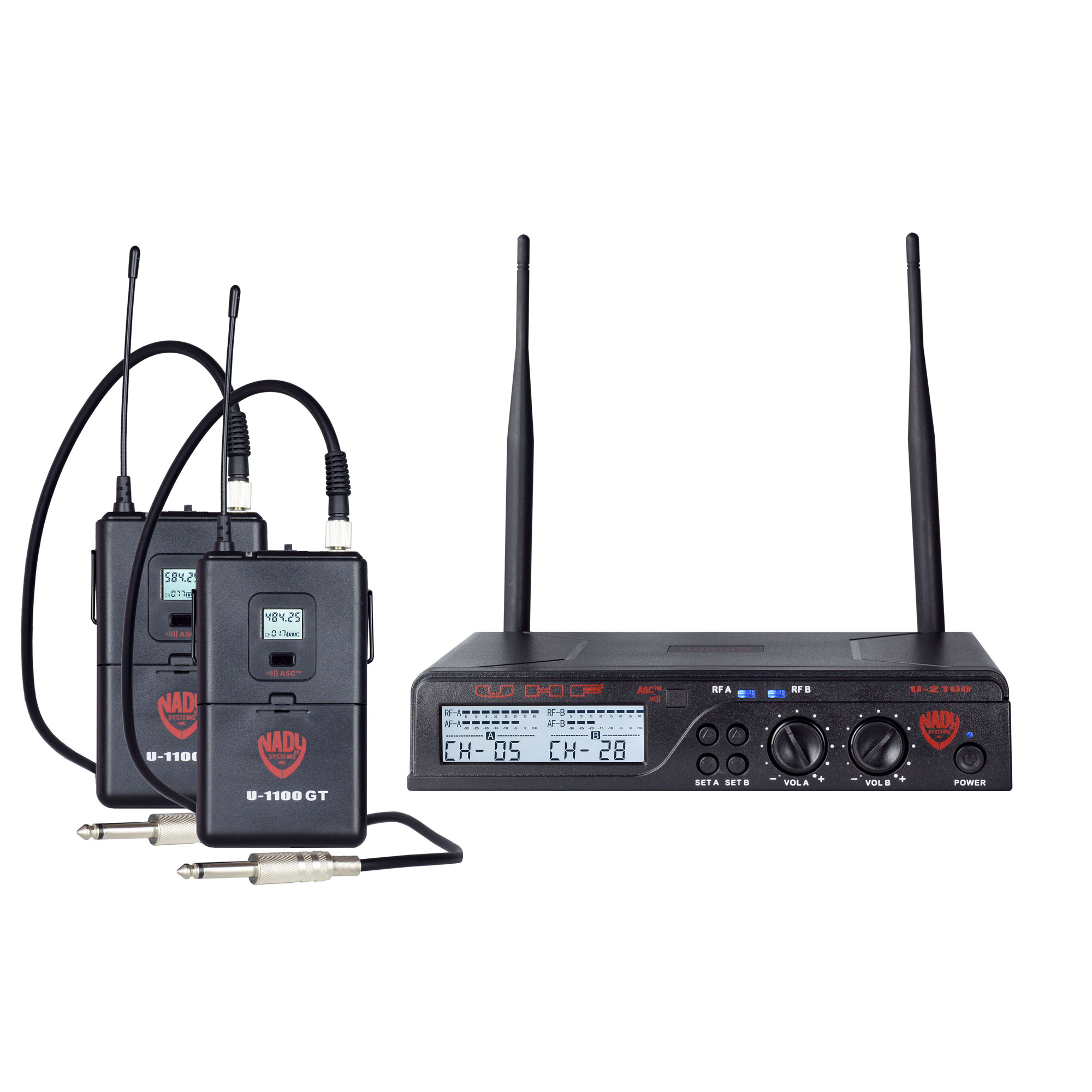u 2100 dual 100 channel uhf wireless system nady systems inc. Black Bedroom Furniture Sets. Home Design Ideas