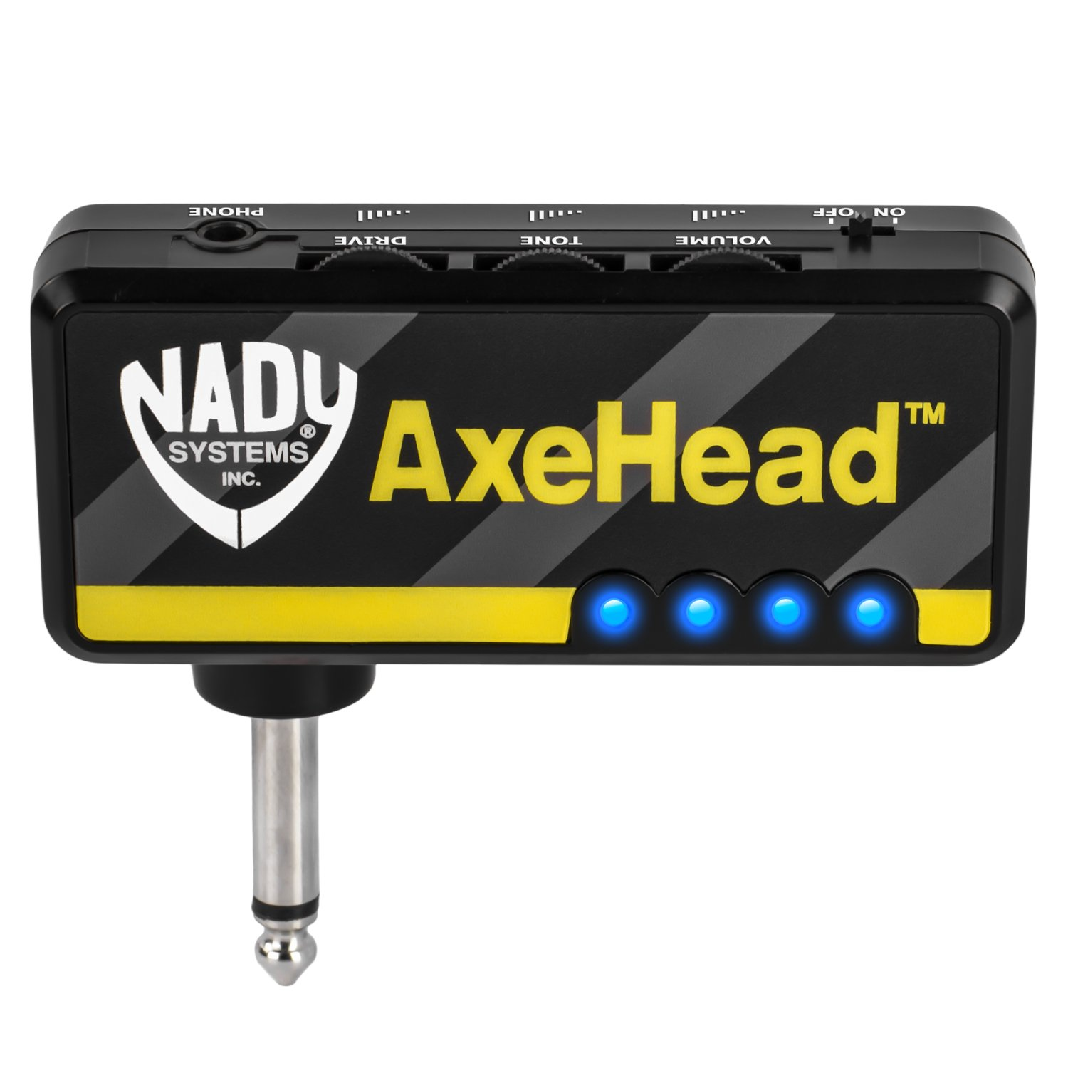 axehead mini headphone guitar amp nady systems inc. Black Bedroom Furniture Sets. Home Design Ideas