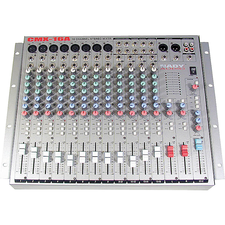cmx 16a 16 channel stereo mic line mixer nady systems inc. Black Bedroom Furniture Sets. Home Design Ideas