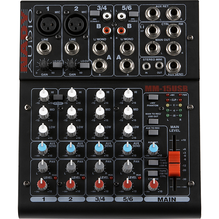mm 15usb 15 channel mini mixer with usb interface nady systems inc. Black Bedroom Furniture Sets. Home Design Ideas