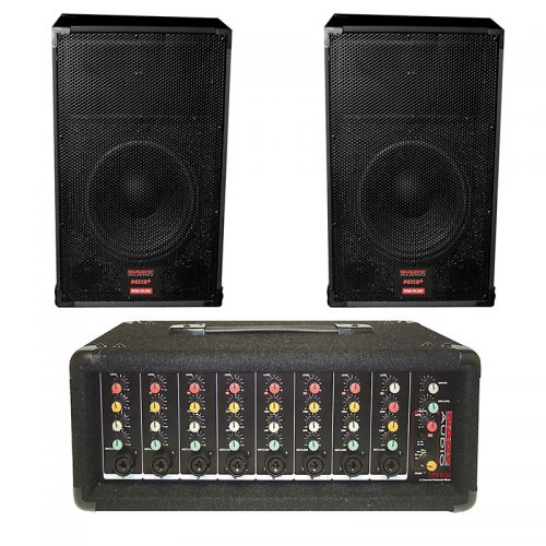NADY MPM-8175X PA210 8-Channel Powered Mixer With 10″ Speakers