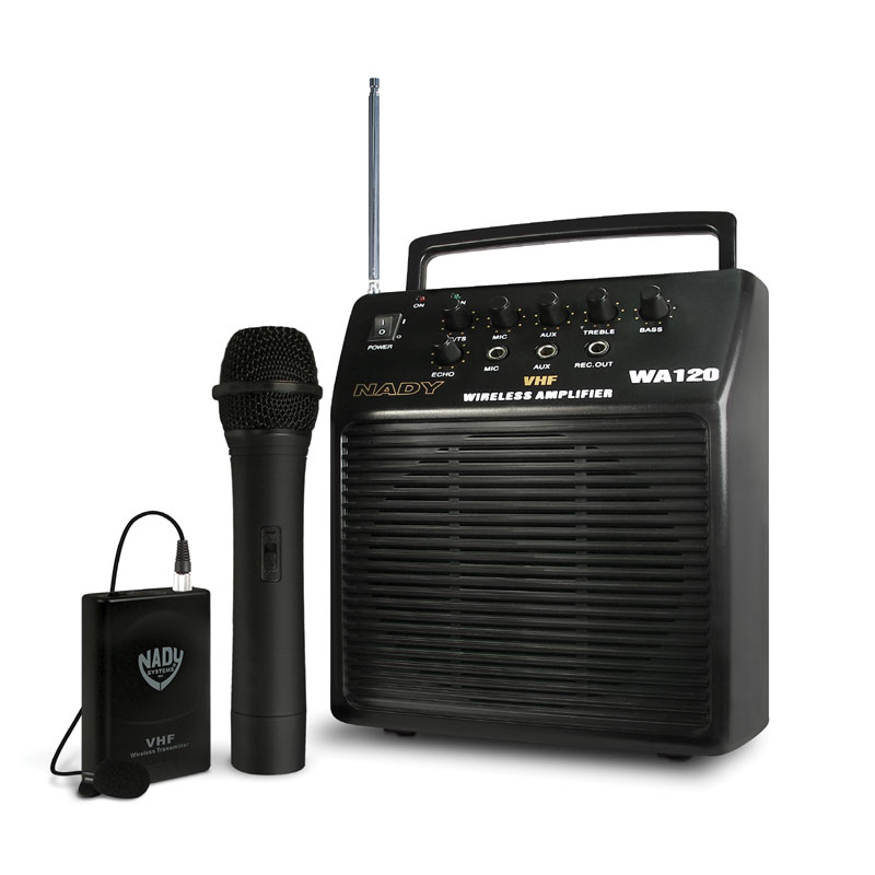 wa 120 portable vhf wireless pa system nady systems inc. Black Bedroom Furniture Sets. Home Design Ideas
